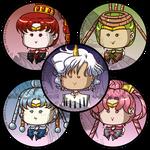 Sailormoon Buttons Amazonian Senshi Ellios