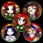 Seasonal Edition 5 OC Buttons Winter Holiday