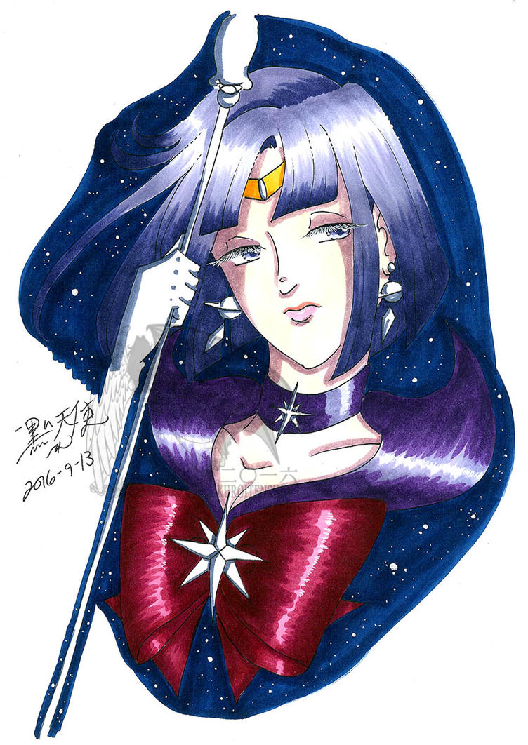 FOR SALE OOAK Traditional Marker Drawing Saturn by kuroitenshi13