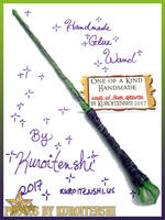 SOLD Wand of Plum Growth by kuroitenshi13