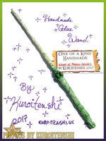 SOLD Wand of Poison Skulls by kuroitenshi13