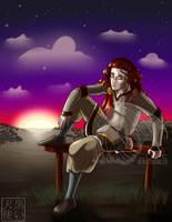 Lounging Loki by kuroitenshi13