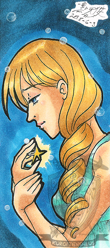 Traditional Small Bookmark Wishing Star by kuroitenshi13