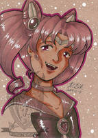 Toned Paper Sailorchibimoon by kuroitenshi13