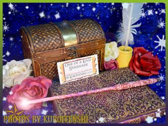 Wand of Glowing Mulberry Disco by kuroitenshi13