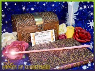 Wand of Glowing Ovoid Roseate by kuroitenshi13