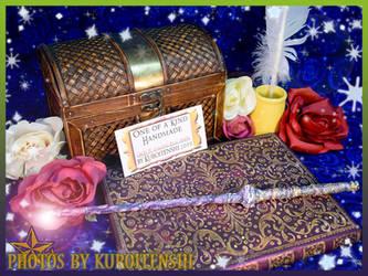Wand of Glowing Rich Ombre by kuroitenshi13