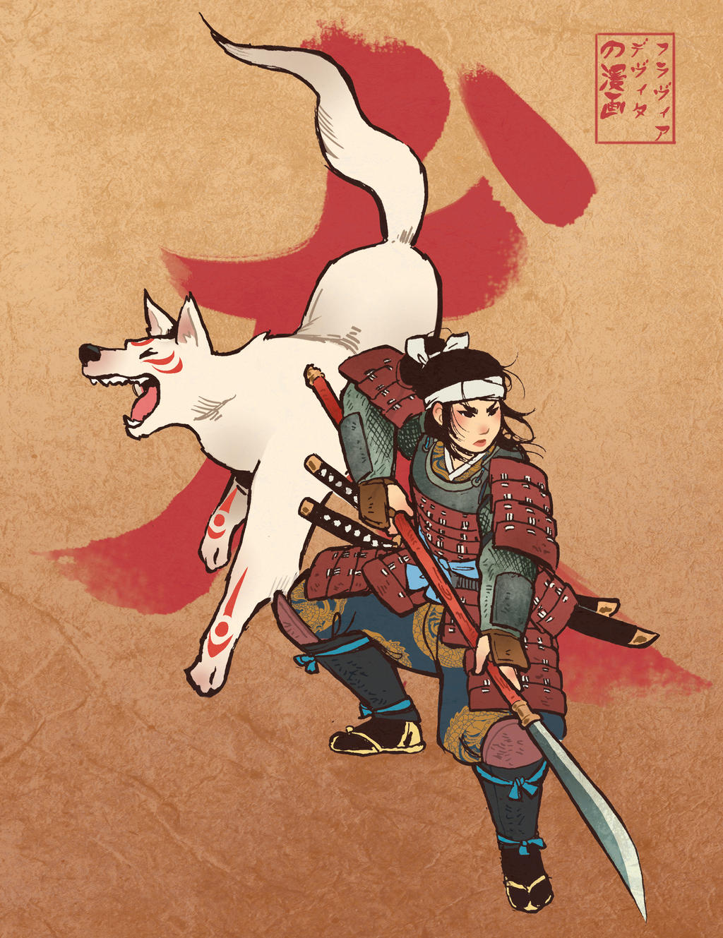 Character Design Challenge Of The Month : Character design challenge onna bugeisha by fdevita on