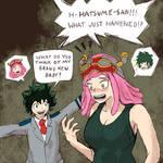 Midoriya and Hatsume Body Swap