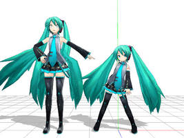 PD Chibi Miku-MADE BY MAMAMA MODEL IS NOT FANMADE- by Myth-P
