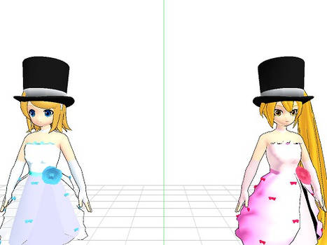 Neru and Rin with Top Hats