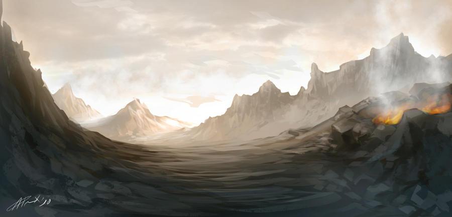 Fantasy Landscape by Titanbolzen