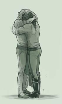 Hugs in DeviantArt Green
