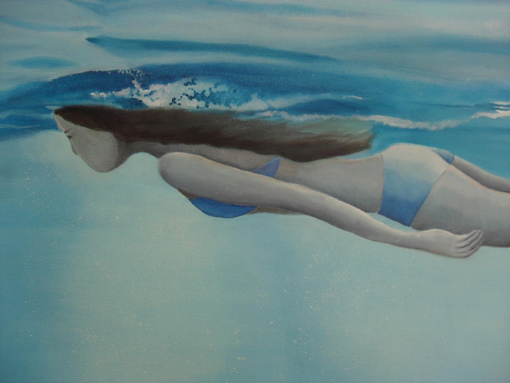 Girl Swimming Under Water