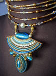 Turquoise choker by Zayunu