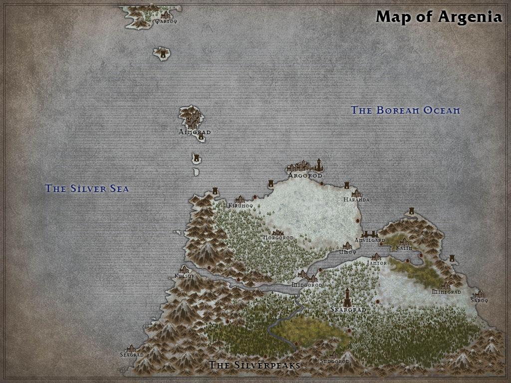 Map of Argenia by Karadram