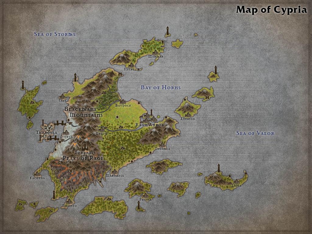 Map of Cypria by Karadram