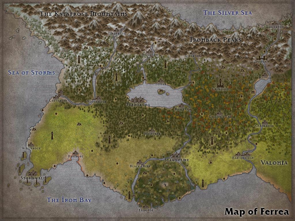 Map of Ferrea by Karadram