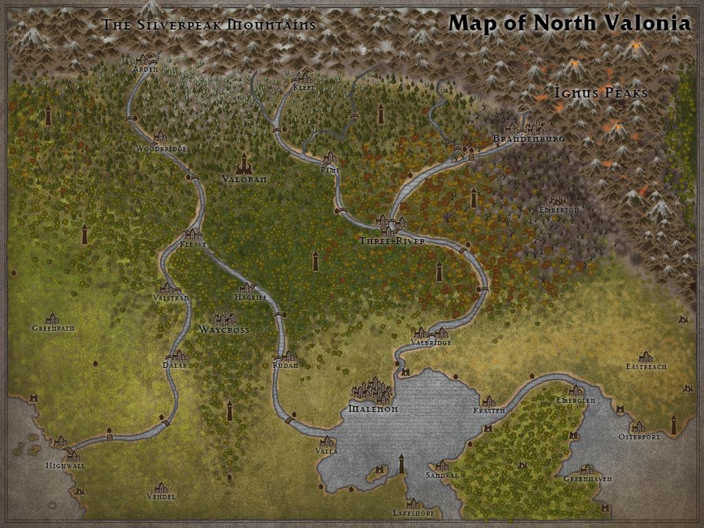 Map of Valonia North by Karadram