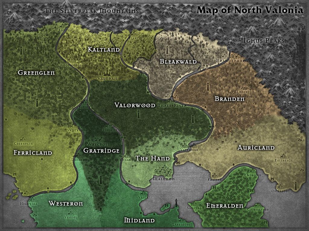 Provinces of Northern Valonia by Karadram