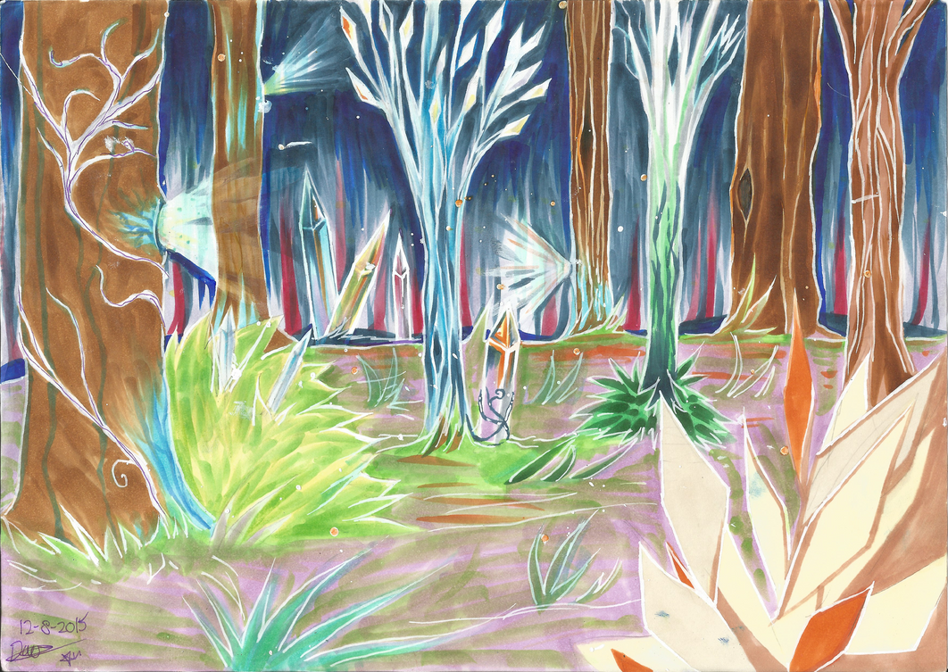 Crystal Forest by CyanStorm