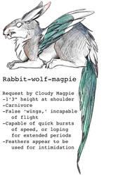 Rabbit-wolf-magpie