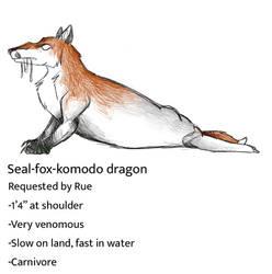 Seal-fox-komodo dragon