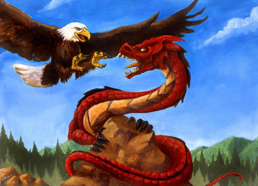 Eagle Vs Dragon Drawing Rock, Dragon and Eagle...