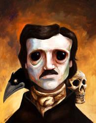 Edgar Allen Poe by mbielaczyc
