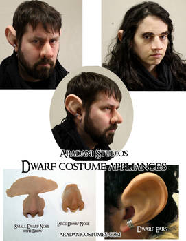 Dwarf Costume Appliances - Nose and Ears
