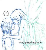 Sketch 21: Angel's Kiss by cENtRosEMa