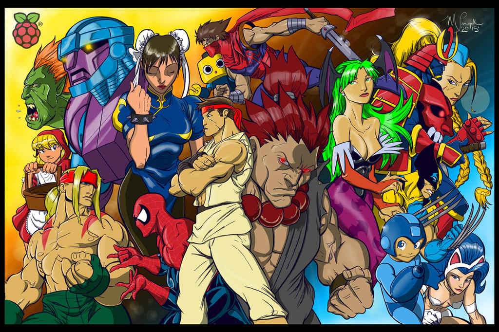 Capcom fighting character mural by medtalhead on deviantart for Character mural