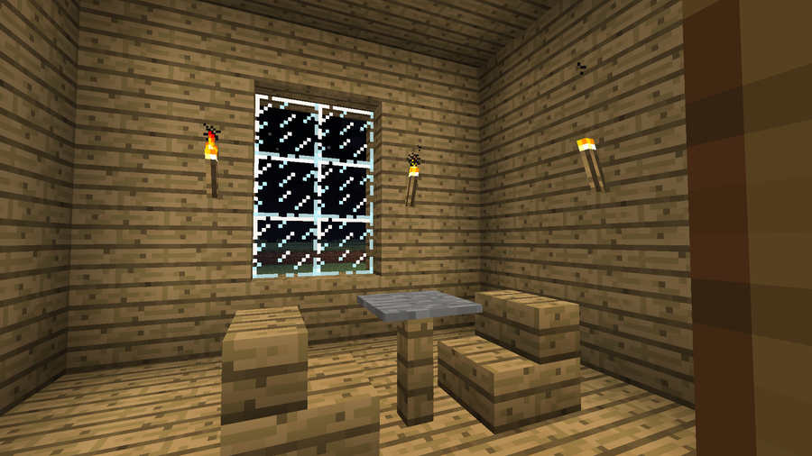 Minecraft estate private dining room by aceaddo on for Minecraft dining room designs
