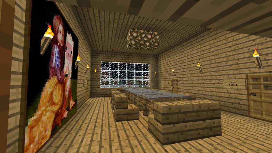 Minecraft estate main dining room by aceaddo on deviantart for Minecraft dining room designs