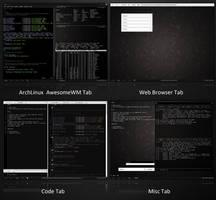 TWM on Windows XP-ArchLinux by math0ne