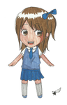Chibi Manga Schoolgirl