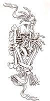 Entangled skeleton.