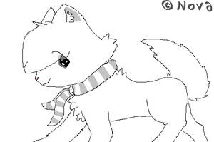 Chibi Cat LineArt REPOST by xXNeon-HeartXx
