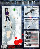 Katie -Kat- Zombie Survival ID by xXNeon-HeartXx
