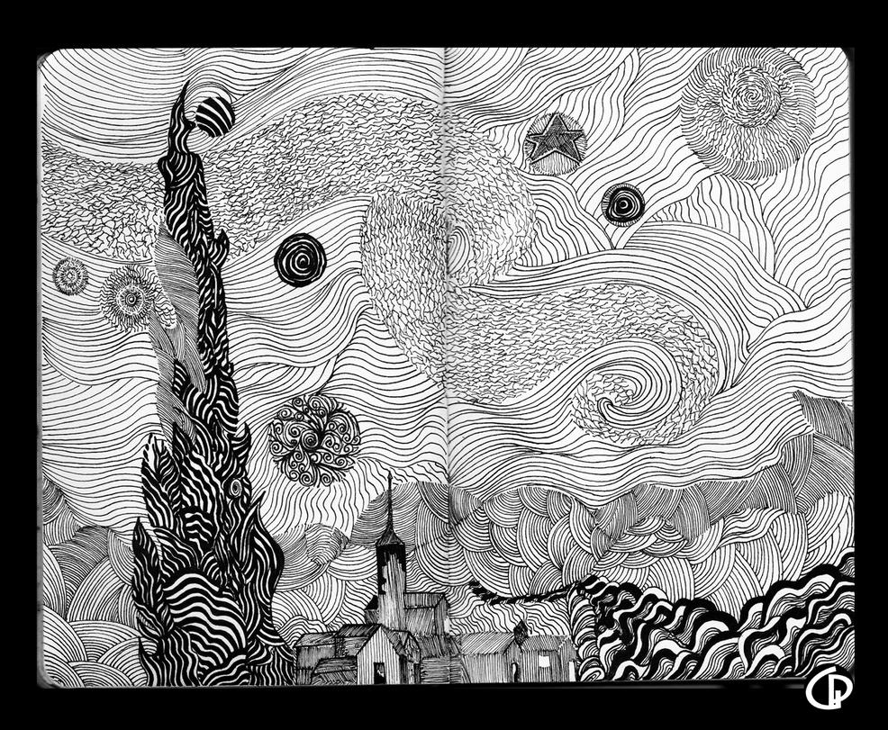 my version of Starry night by Giovanni-Palma