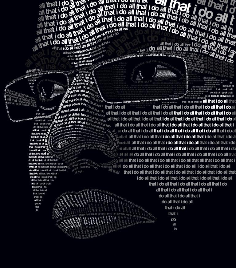 self portrait extreme typography by allthatido on deviantart