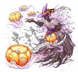 Inktober day 3 - Ghostly Puppeteer by Vaelyane