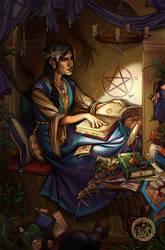 The Witch's Study by Vaelyane