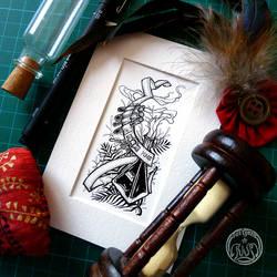 Alchemy (inks) by Vaelyane
