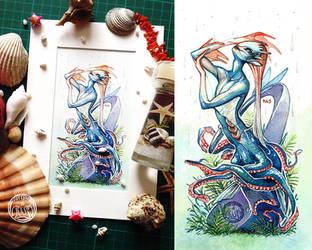 Mermaid Shower by Vaelyane
