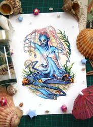 Mermay 2018 - Mermaid with Net by Vaelyane