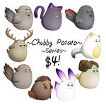 Chubby Potato Series for $4! [art trades accepted]