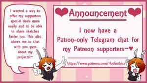 Patron Chat on Telegram! +New Rewards~