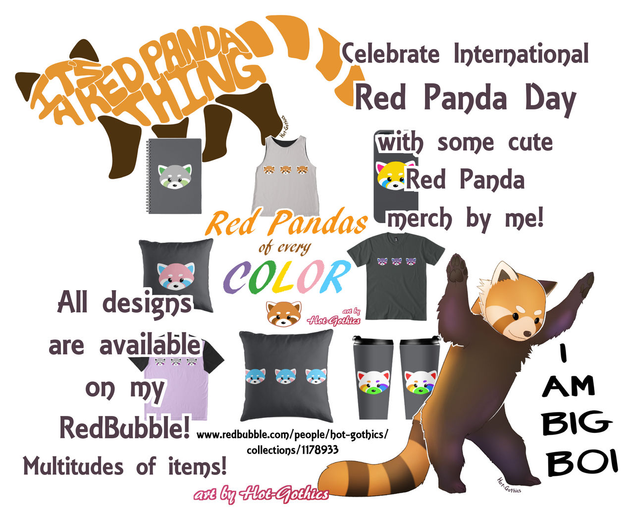 Red Panda Designs by Hot-Gothics
