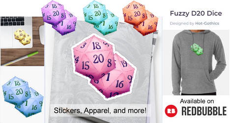 D20 Fuzzy Dice Available on Redbubble